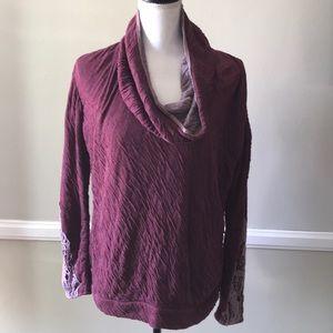 Bordeaux purple cowl neck sweater medium